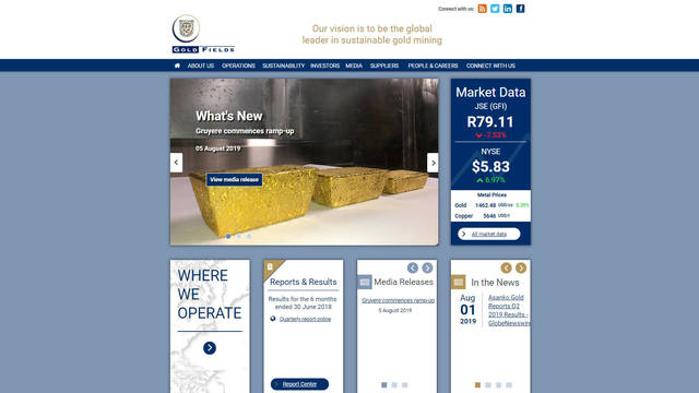 Gold Fields Corporate Site