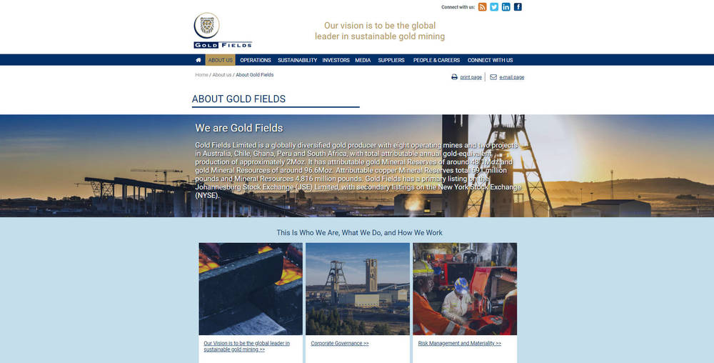 Gold Fields Corporate Site - About Gold Fields