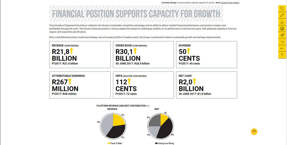 Murray & Roberts Annual Integrated Report 2018