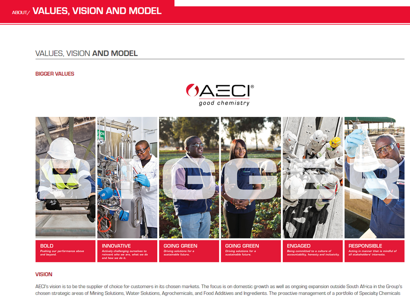 AECI Corporate website