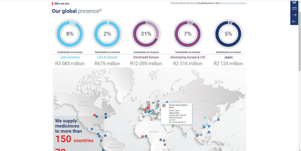 Aspen 2019 Integrated Report  - Our Global Presence