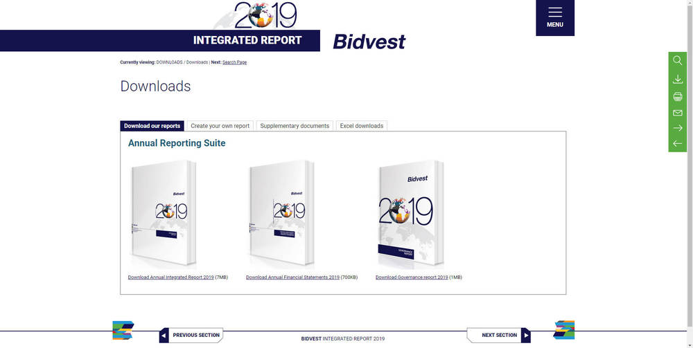 Bidvest - Integrated Annual Report 2019 - Covers