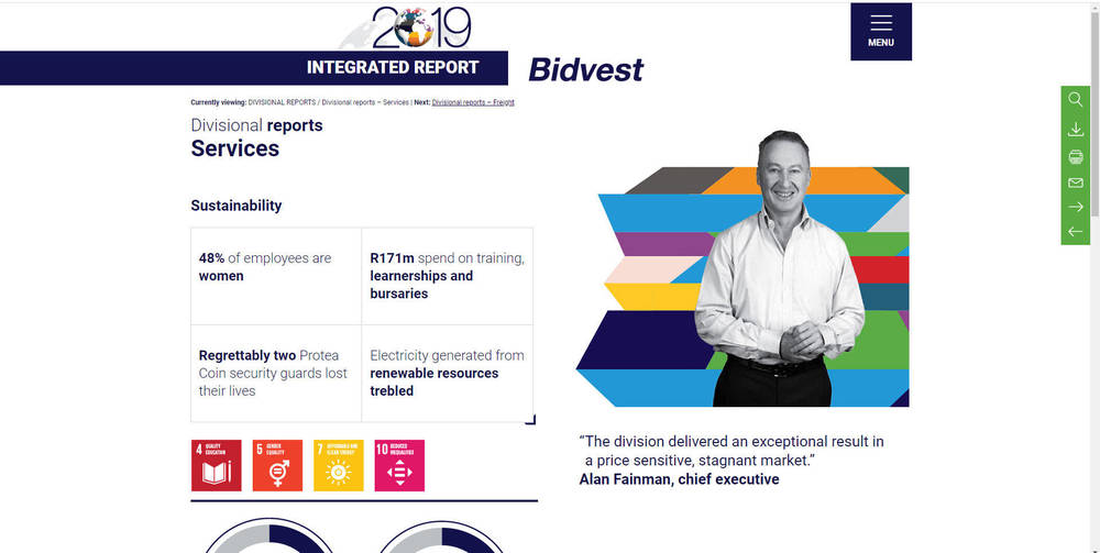 Bidvest - Integrated Annual Report 2019 - Divisional Reports Services