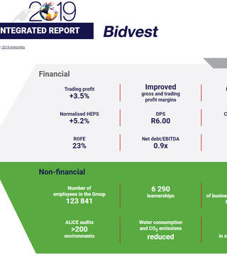 Bidvest - Integrated Annual Report 2019