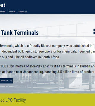 Bidvest Tank Terminals Corporate Site