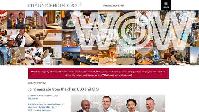 City Lodge Hotel Group Integrated Report 2019