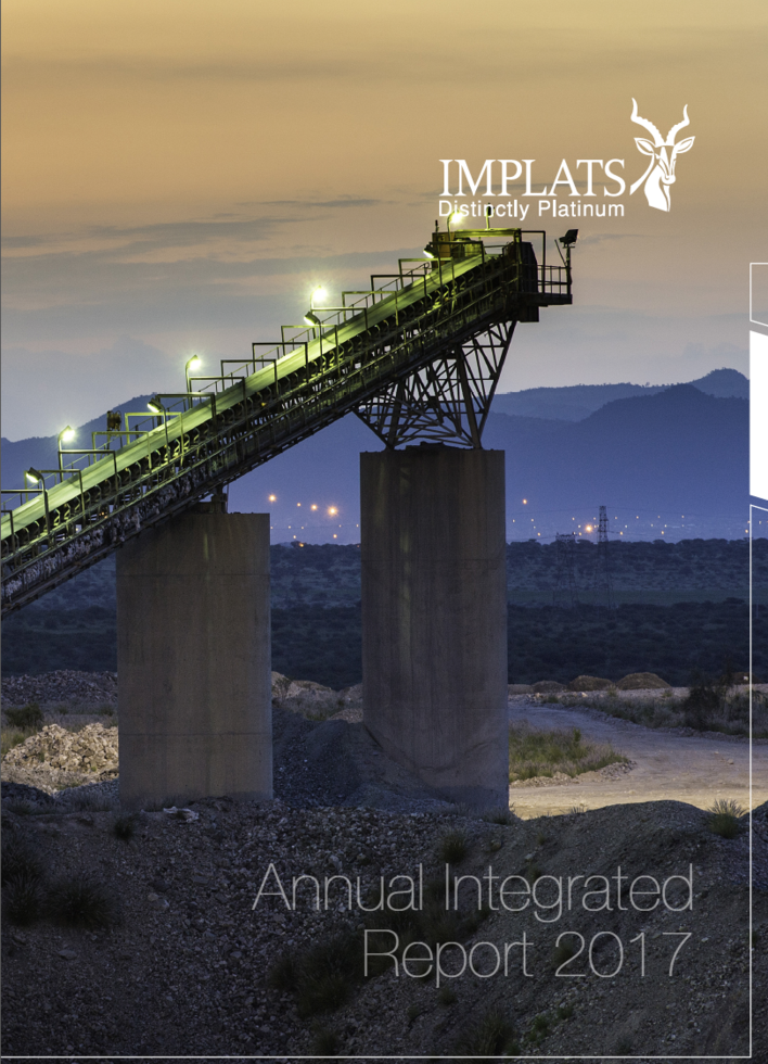 Implats Annual Integrated Report 2017 - cover