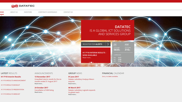 Datatec corporate website
