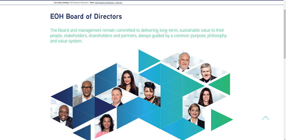 EOH Integrated report 2019 - Board Of Directors
