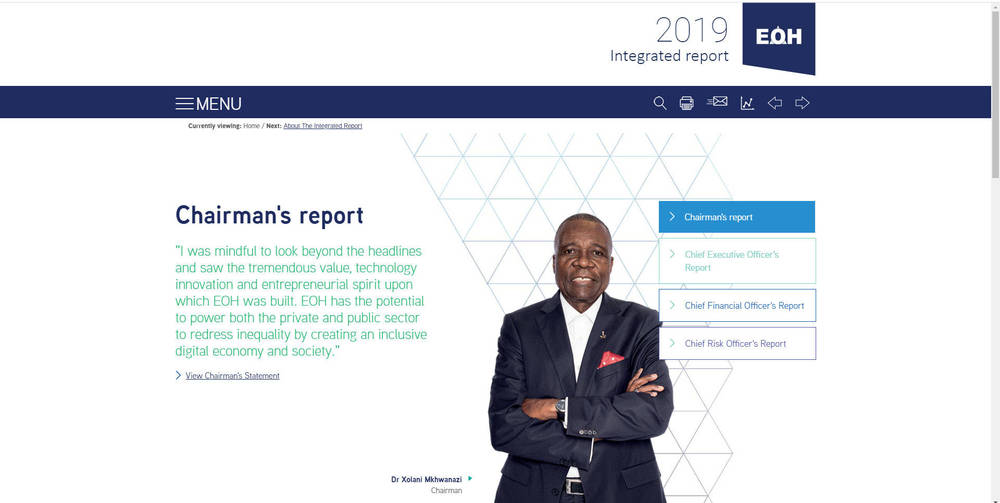 EOH Integrated report 2019 - Home