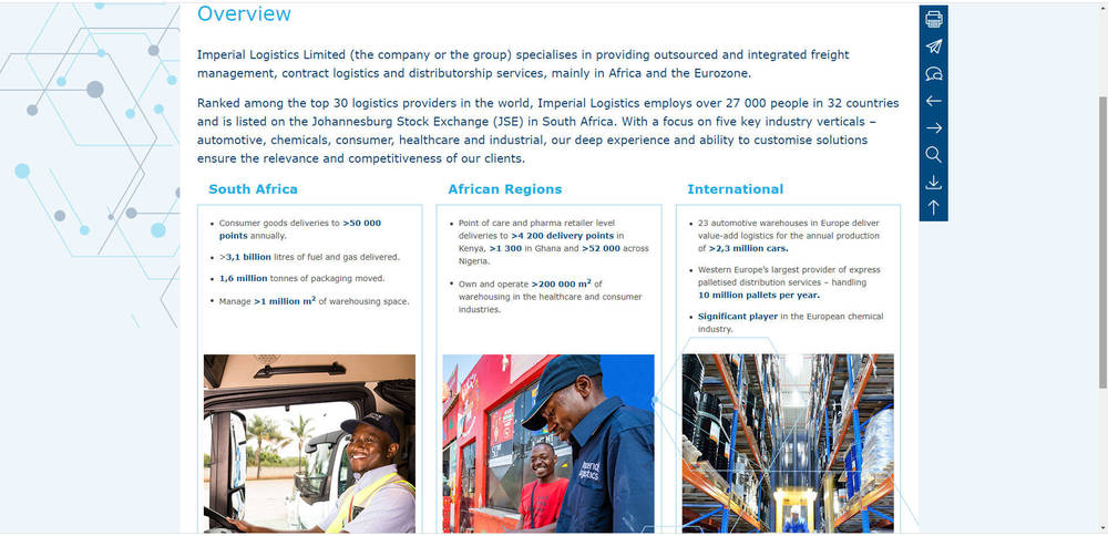 Imperial Logistics - Integrated Annual Report 2019 - Overview