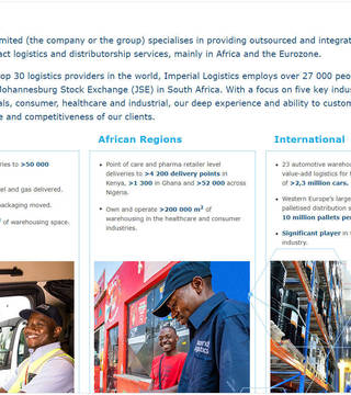 Imperial Logistics - Integrated Annual Report 2019