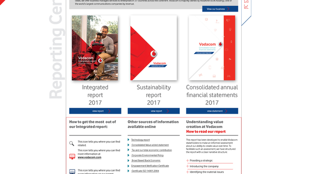Vodacom integrated report 2017