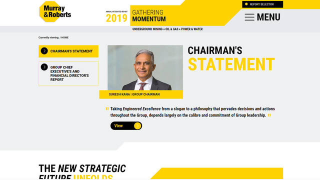 Murray & Roberts Annual Integrated Report 2019