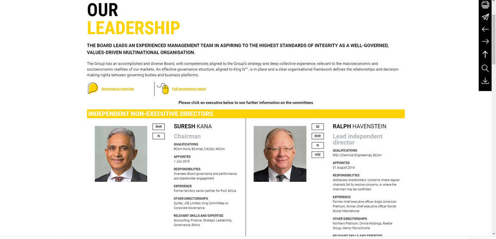 Murray & Roberts - Annual Integrated Report 2019 - Our Leadership
