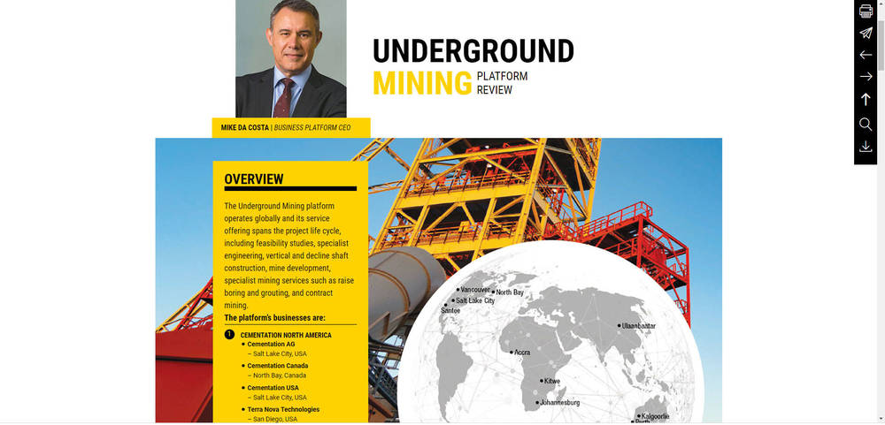 Murray & Roberts - Annual Integrated Report 2019 - Underground Mining