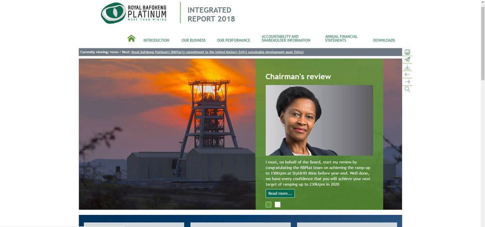 Royal Bafokeng Platinum Integrated Report 2018 - Home