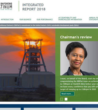 Royal Bafokeng Platinum Integrated Report 2018