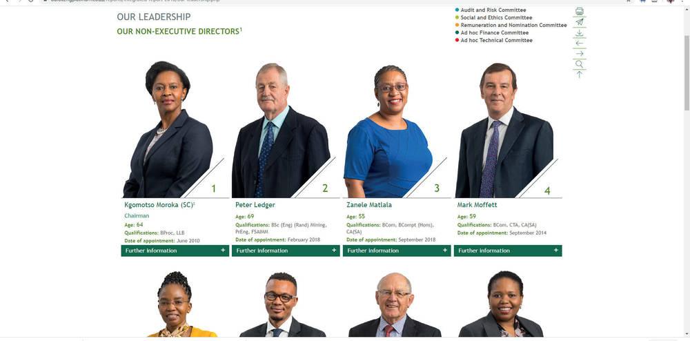 Royal Bafokeng Platinum Integrated Report 2018 - Our Leadership