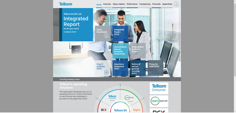 Telkom Integrated Report 2019 - Home