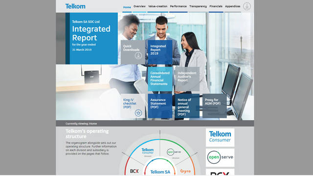 Telkom Integrated Report 2019