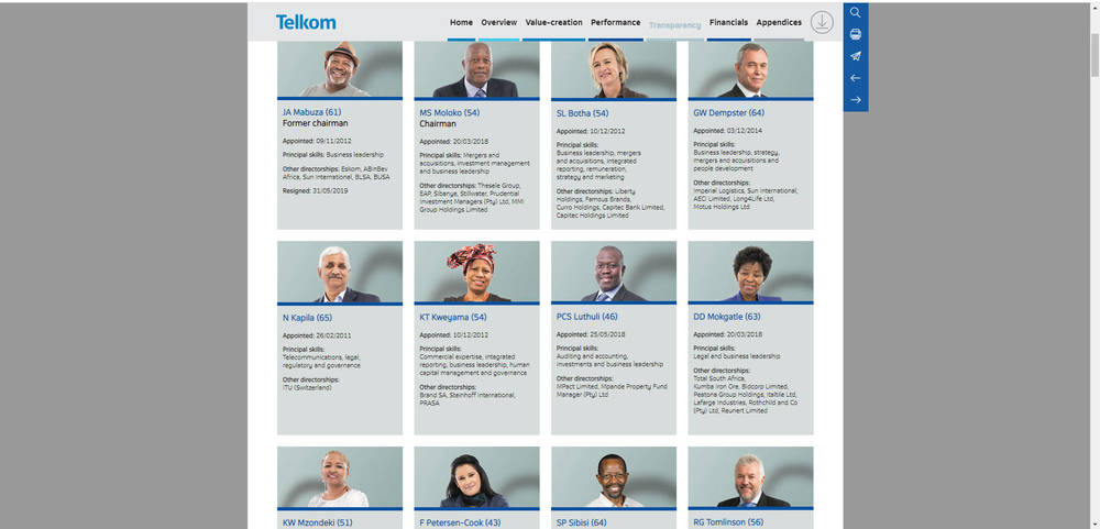 Telkom Integrated Report 2019 - Leadership