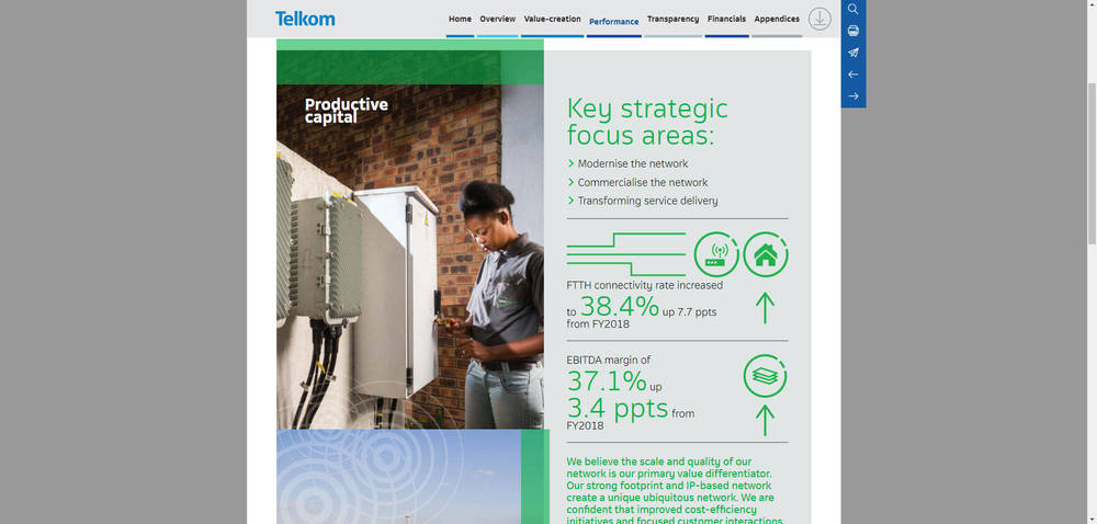 Telkom Integrated Report 2019 - Productive Capital