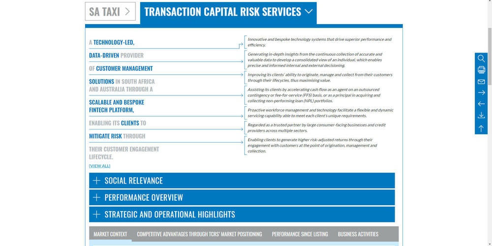 Transaction Capital - Integrated Annual Report 2018 - Divisions